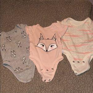 3 sets of onesies
